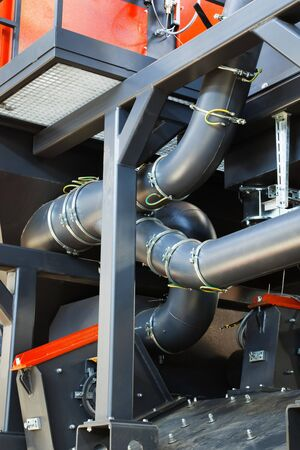 pipe system to a modern plant photo