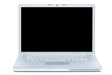 new laptop computer on white background Stock Photo - 8011074