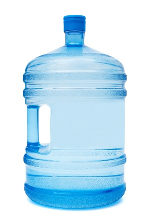 bottle with water: large bottle of water on a white background Stock Photo