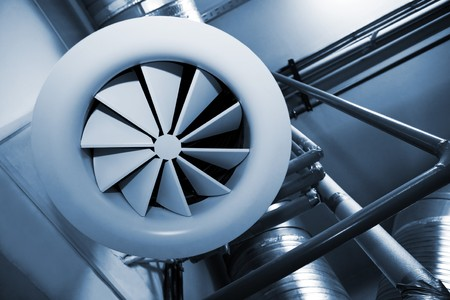 System of ventilating pipes at a modern factory Stock Photo - 8227541