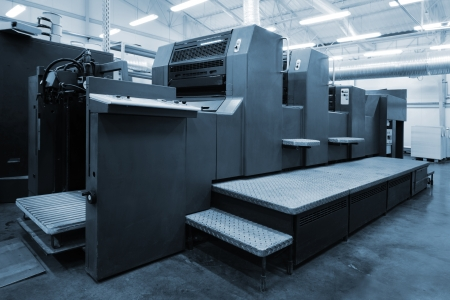 printing machine: equipment for a print in a modern printing house