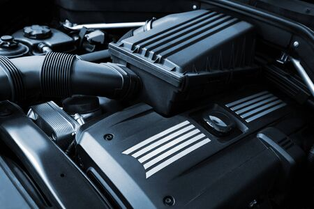car engine: The powerful engine of the modern car Stock Photo