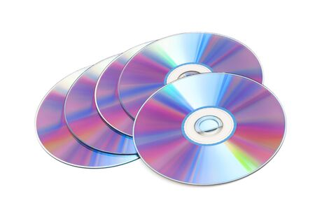cd disks on a white background