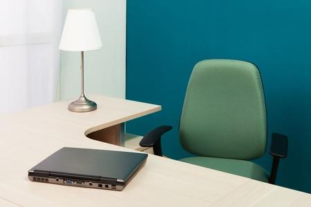 laptop on a desk in a modern office Stock Photo - 8654781