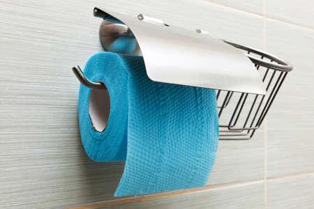 toilet paper holder in the modern bathroom photo