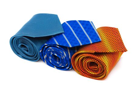 elastic garments: bright and fashionable ties on a white background