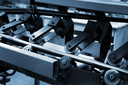offset: Work of the conveyor in a modern printing house