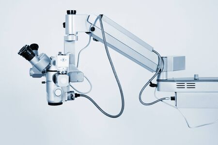 New and modern microscope for medical researches Stock Photo - 9655336