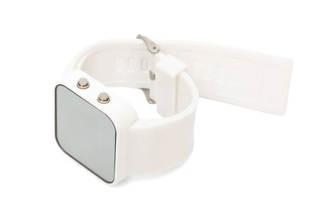 Modern digital watch a white background photo