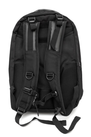 Modern and fashionable backpack on a white background photo