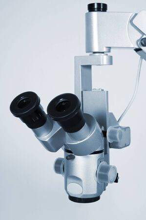 New and modern microscope for scientific researches photo