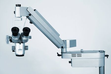 New and modern microscope for medical researches photo