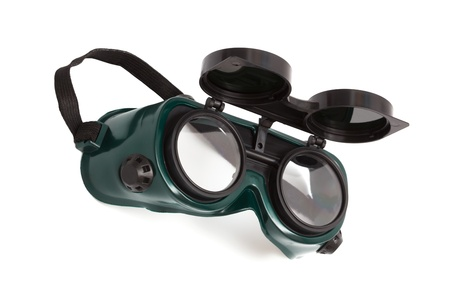 goggles for welding on a white background photo
