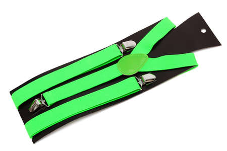 suspender: new green suspenders on a white background