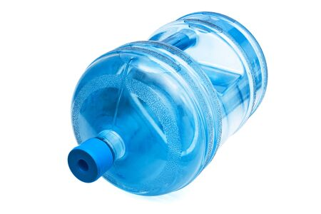 large bottle of water on a white background photo