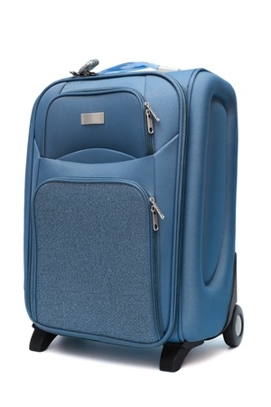 modern large suitcase on a white background Standard-Bild