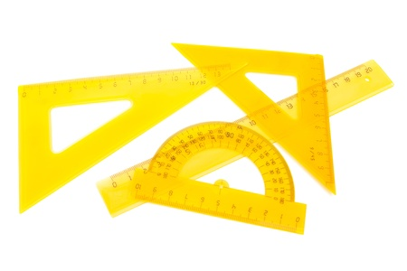 millimetre: a set of measuring tools on white background