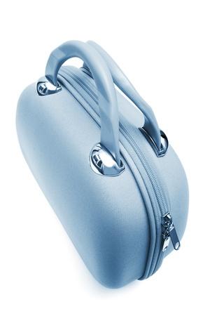lugage: blue large bag on a white background