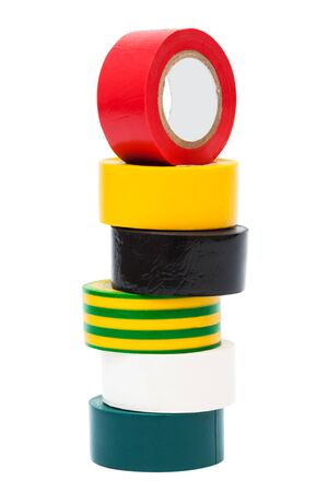 insulate: PVC electrical tape on white background Stock Photo