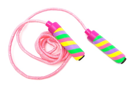 modern skipping rope on a white background photo