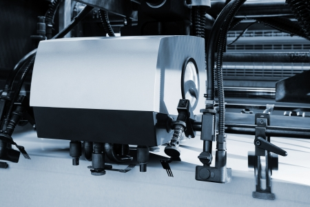 The equipment for a printing in a modern printing house photo