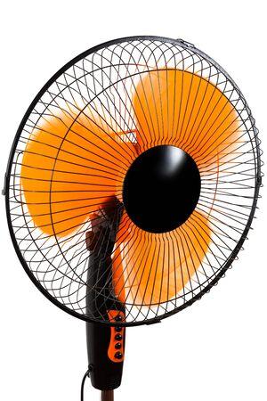 modern orange fan on a white background photo