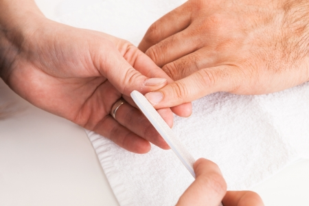 Manicure man close-up to the beauty salon Stock Photo - 14830738