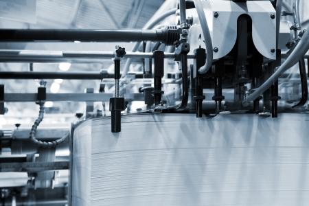 Die Ausrüstung für die Presse in einer modernen Druckerei Standard-Bild