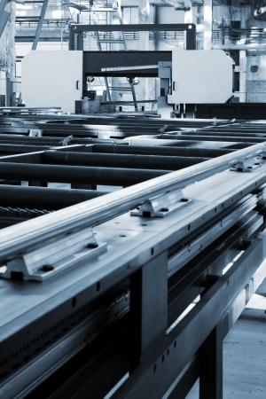new and powerful metalworking machine in modern workshop 写真素材