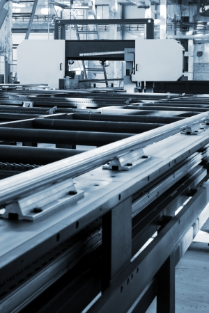 new and powerful metalworking machine in modern workshop Archivio Fotografico