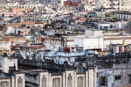 krottenwijk: Oud Havana sloppenwijk zonnige dag