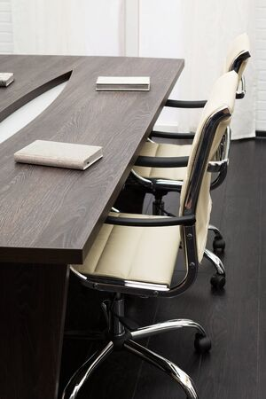 office chairs: conference table in a modern office