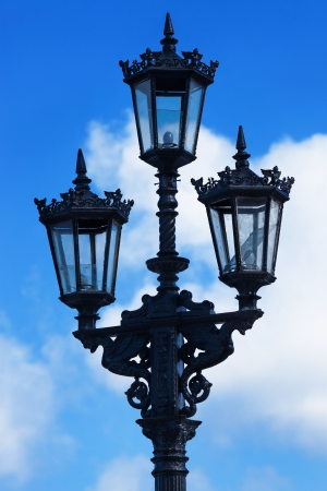 streetlight: old street lamp in the sky