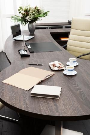 laptop on a desk in a modern office Stock Photo - 17190872