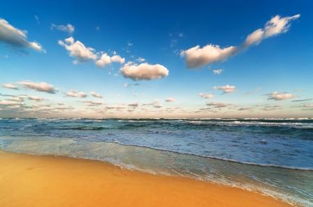 beautiful sandy beach at sunrise Stock Photo - 17190878