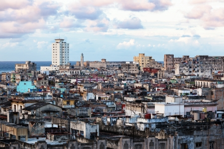 density: Old Havana slum sunny day