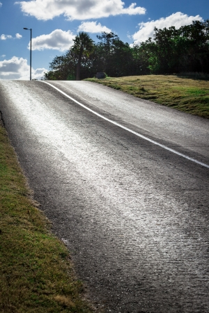road on a sunny day and blue sky Stock Photo - 17192427