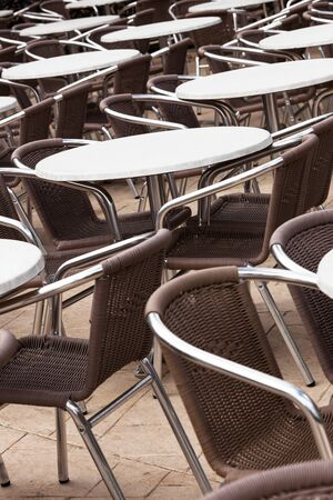tables and chairs in a cafe on the street Stock Photo - 17341061