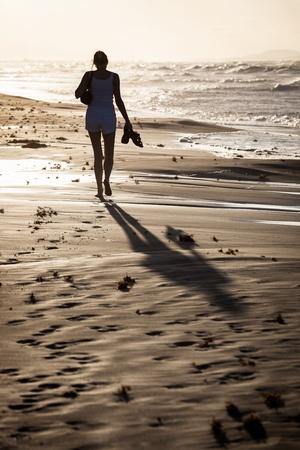 girl on a beach sunset Stock Photo - 17755538