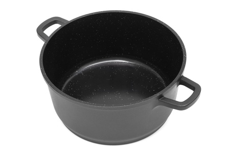 nonstick: pan with non-stick coating on a white background Stock Photo