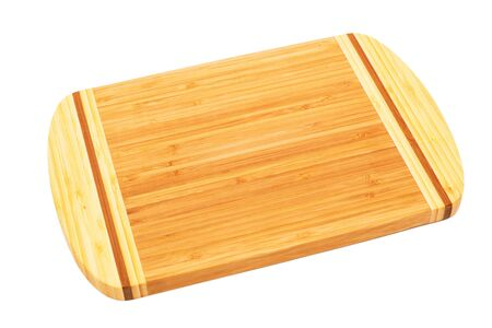 bamboo cutting board on a white background photo