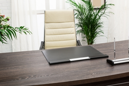 home office desk: modern table manager in a modern office