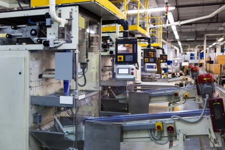 production facility: powerful new conveyor in modern plant