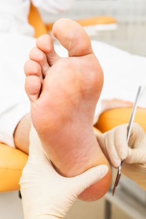 pedicure foot in a modern beauty salon Stock Photo