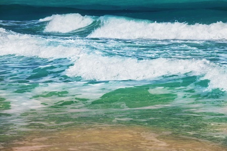 breaking wave: waves on the ocean on a sunny day