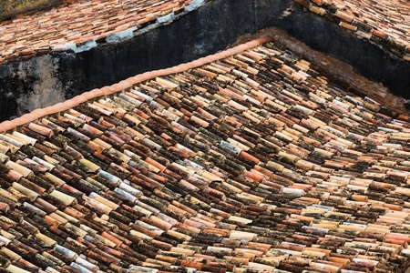 rooftiles: old tiled roofs in the city