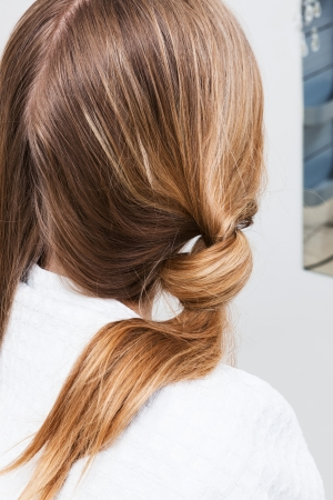 Hair styling in a modern hairdressing salon Stock Photo - 23219082