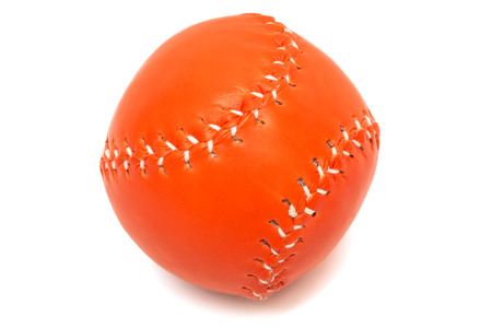 orange baseball ball on a white background photo