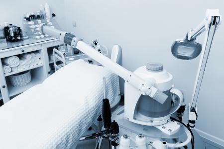 facial steamer: modern equipment in the beauty salon