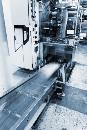 machine made: moving conveyor at the new plant